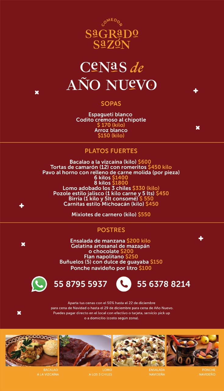 cenas año nuevo mexico